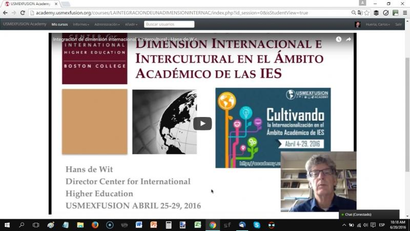 April 2016 - Online Courses on Internationalization of HEIs - - USMEXFUSION Academy
